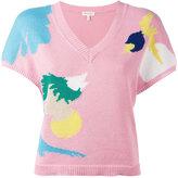 DELPOZO abstract pattern jumper - women - Cotton - S