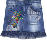 Desigual Jean skirt with reversible sequins
