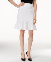 Nine West Jacquard Flounce Skirt