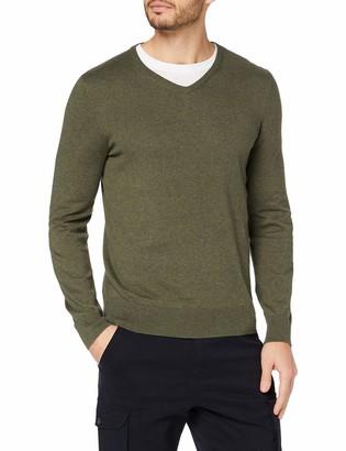 Meraki Men's Lightweight Cotton V-Neck Sweater