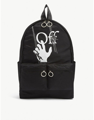 Off-White Off White Hand Painter Cotton Backpack