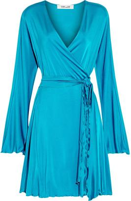 Diane von Furstenberg Freesia Ruffle-trimmed Stretch-jersey Mini Wrap Dress