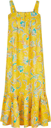 Under Armour Paisley Print Tiered Dress in LENZING ECOVERO Yellow