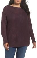 Caslon Plus Size Women's Long Sleeve Brushed Sweater
