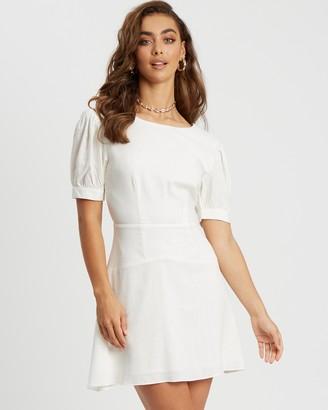 Savel - Women's White Mini Dresses - Court Mini Dress - Size 6 at The Iconic