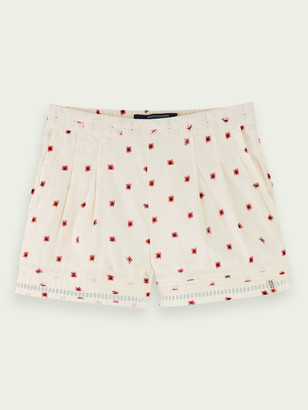Scotch & Soda Mid-rise cotton-blend lace detail shorts   Girls