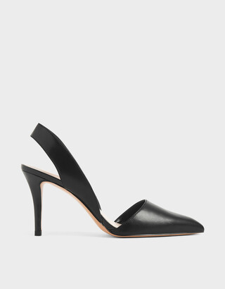 Charles & Keith Thick Slingback Strap Heels