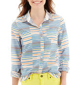 JCPenney STYLUS Stylus Long-Sleeve Striped Essential Shirt