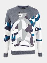 Burton Burton Abstract Polar Bear Christmas Jumper