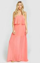 MUMU Princess Di Ballgown Maxi Skirt ~ Coral Rose