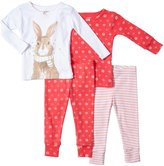 Carter's 4 Piece Striped PJ Set (Baby) - Coral-9 Months