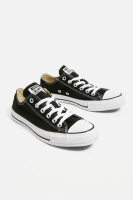 Converse Chuck Taylor All Star Low Top Trainers - Black UK 3 at Urban Outfitters