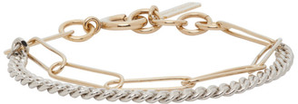Justine Clenquet Silver and Gold Pixie Bracelet