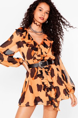 Nasty Gal Womens Meow Will I Know Leopard Mini Dress - Brown - 6
