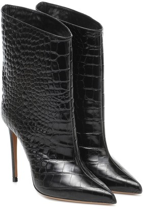 Alexandre Vauthier Alex Low patent leather ankle boots