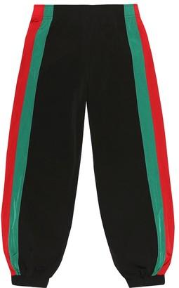 Gucci Kids Web stripe jersey track pants