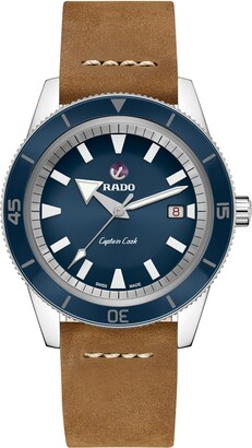 Rado HyperChrome Captain Cook Automatic Leather Strap Watch, 42mm