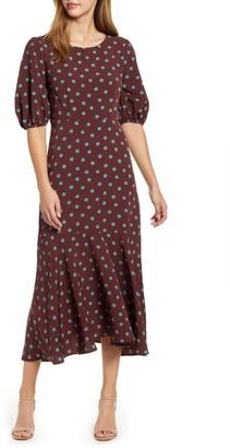 Bobeau Dara Woven Print Dress