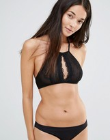 Glamorous Halter With Cut Out Center Bra