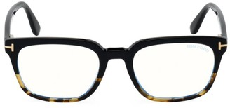 Tom Ford 53MM Tortoiseshell Square Blue Block Optical Glasses