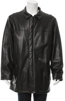 Loro Piana Leather Cashmere-Lined Jacket