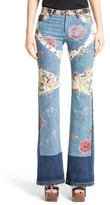 Roberto Cavalli Women's Patchwork Denim Flare Jeans