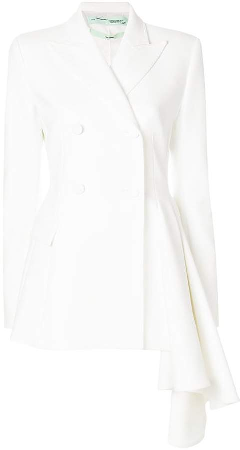 Off-White asymmetric double-breasted blazer
