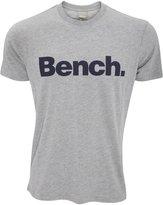 Bench Mens Corporation Short Sleeve Crew Neck T-Shirt (Grey)