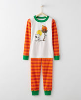 Hanna Andersson Peanuts Glow In The Dark Long John Pajamas In Organic Cotton