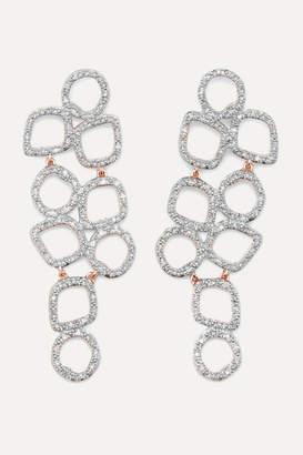 Monica Vinader Riva Cluster Rose Gold Vermeil Diamond Earrings