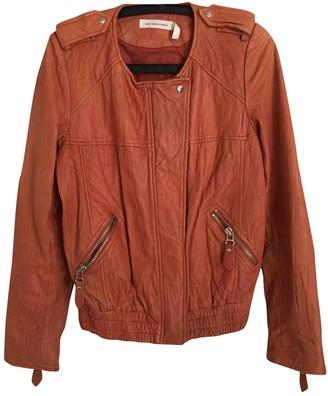 Etoile Isabel Marant \N Orange Leather Leather Jacket for Women