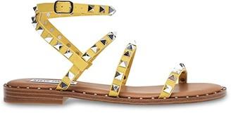 Steve Madden Travel Flat Sandal (Snake) Women's Shoes