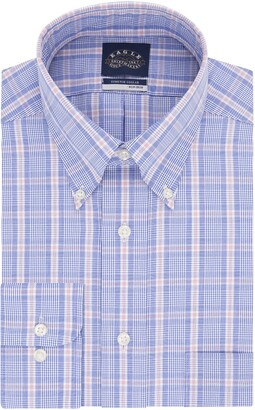 Eagle Men's FIT Dress Shirts Non Iron Stretch Collar Check (Big and Tall)