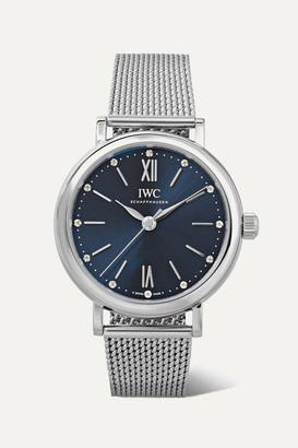 IWC SCHAFFHAUSEN - Portofino Automatic 34mm Stainless Steel And Diamond Watch - Silver