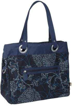 Lassig Gold Label Style Diaper Bag Shoulder Bag Handbag Tote-Bag includes Matching Insulated Bottle Holder, wipeable Changing Mat, Stroller Hooks and lots of compartments for Changing your baby, Black