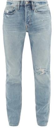 Frame L'homme Remington Distressed Skinny Jeans - Light Blue