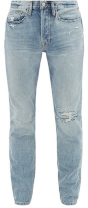 Frame L'homme Remington Distressed Skinny Jeans - Mens - Light Blue