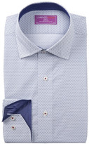 Lorenzo Uomo Geo Print Trim Fit Dress Shirt