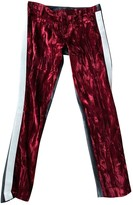 Haider Ackermann Red Leather Trousers