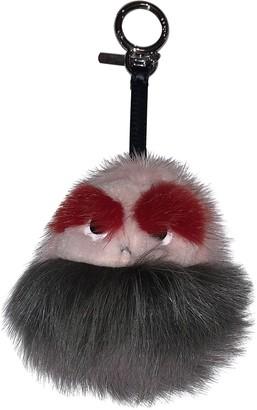 Fendi Grey Mink Bag charms
