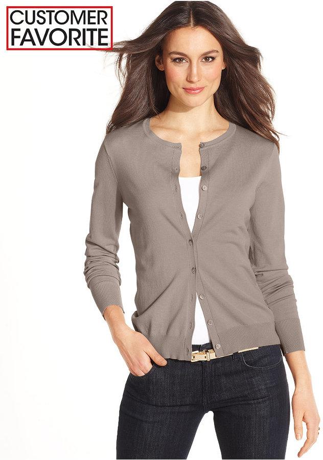 August Silk Long-Sleeve Silk-Blend Cardigan
