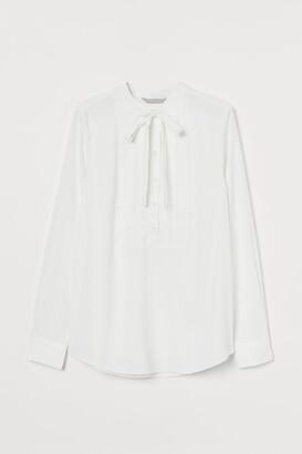 H&M Tie-top Blouse