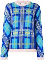 DELPOZO glitter checked pattern jumper - women - Polyamide/Viscose/Mohair - 42