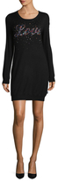 Love Moschino Embellished Front Sweater Dress