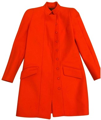 Versace Orange Wool Coat for Women