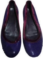 Gucci Purple Leather Ballet flats