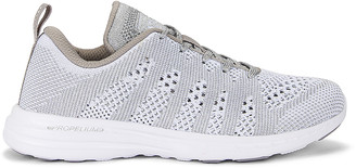 APL Athletic Propulsion Labs Techloom Pro Sneaker in White & Metallic Silver   FWRD