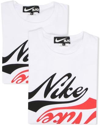 Black Comme Des Garçons x Nike logo-print t-shirt