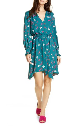Joie Marlayne Floral Long Sleeve Handkerchief Hem Dress