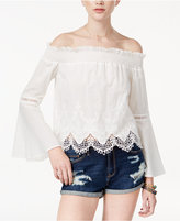 American Rag Juniors' Cotton Off-The-Shoulder Top, Only at Macy's